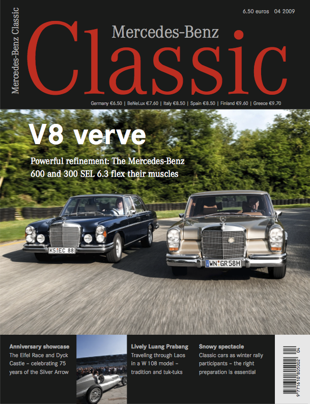 Mercedes benz classic magazine 2009 4 english amg for Mercedes benz classic magazine